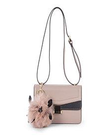 Céline Dion Collection Leather-Like Scale Flap Handbag