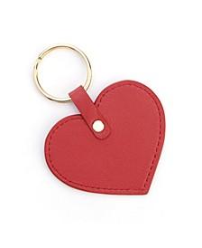 Royce New York Heart Shaped Leather Key Fob