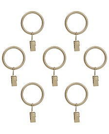Montevilla Curtain Clip Rings for 5/8-Inch Rod, Set of 7, Antique Vintage Brass