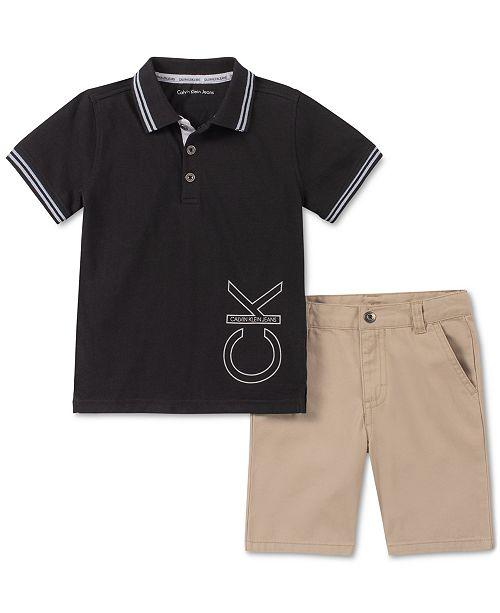 Calvin Klein 2-Pc. Toddler Boys Polo & Shorts Set