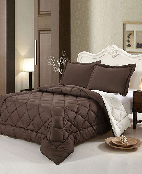 Swiss Comforts Down Alternative Reversible Queen Comforter Set