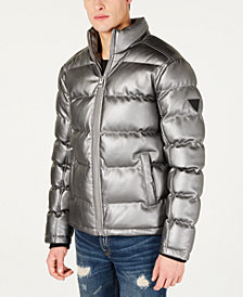 GUESS Men's Turner Metallic Puffer Jacket