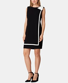 Tahari ASL Sleeveless Bow Sheath Dress, Created for Macy's