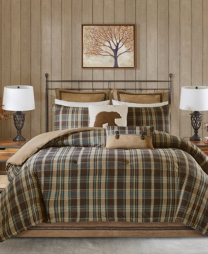 Woolrich Hadley Plaid Reversible 4-Pc. King Comforter Set Bedding