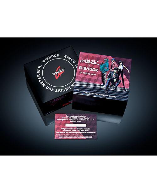 G-Shock Men's Digital Blackout Black Resin Strap Watch 42 8mm