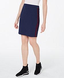 MICHAEL Michael Kors Logo-Tape Skirt