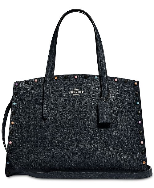 COACH Charlie Carryall in Pebble Leather