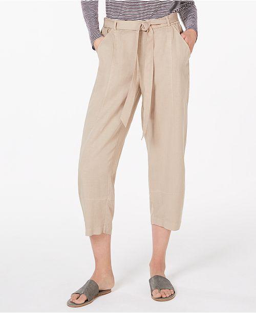 Eileen Fisher Tie-Belt Cropped Pants
