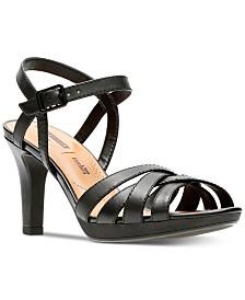 Clarks Collection Women's Adriel Wavy Heeled Sandals