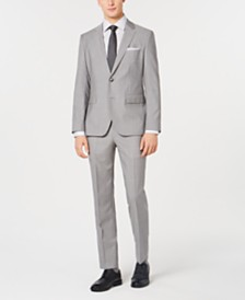 HUGO Men's Slim-Fit Tonal Grid Suit Separates
