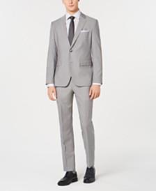 HUGO Men's Slim-Fit Tonal Grid Suit Separates