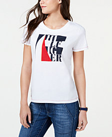 Tommy Hilfiger Cotton Colorblocked Graphic T-Shirt, Created for Macy's
