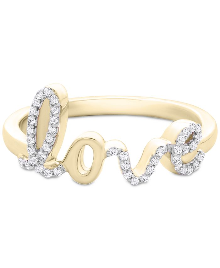 Wrapped - Diamond Love Ring (1/6 ct. t.w.) in 14k Gold