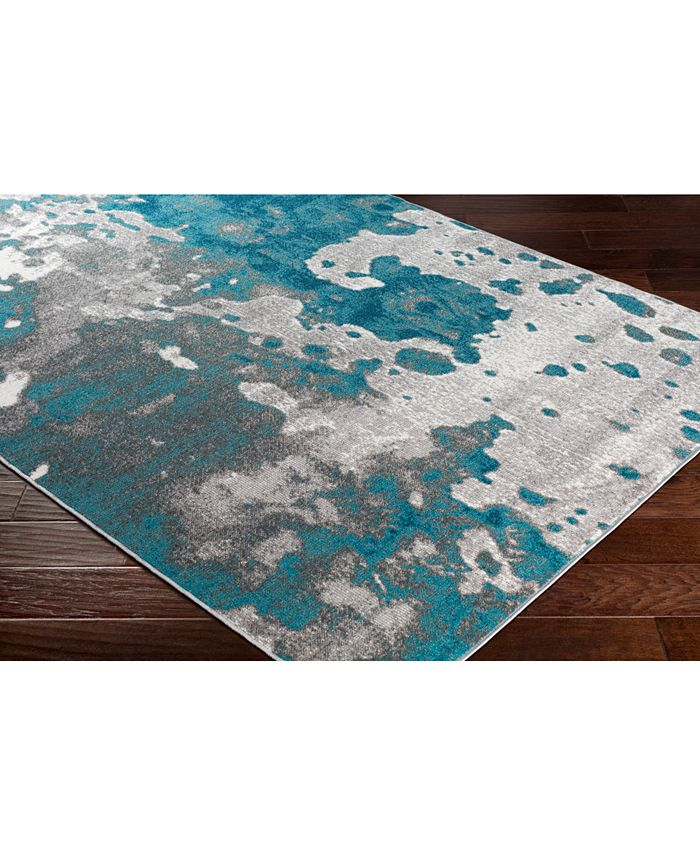 """Abbie & Allie Rugs - Rafetus ETS-2324 Teal 18"""" Square Swatch"""