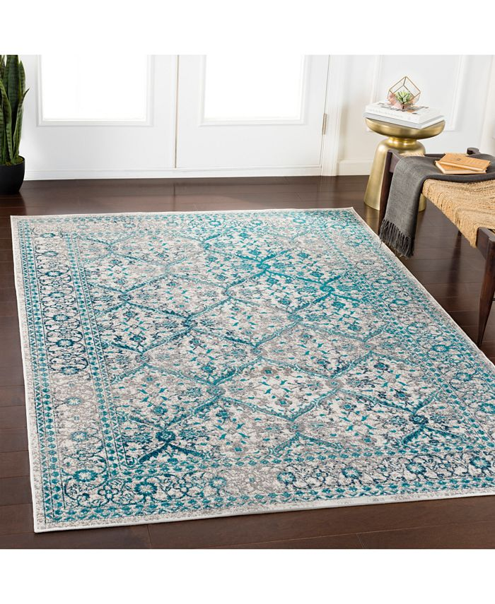 """Abbie & Allie Rugs - Rafetus ETS-2332 Teal 18"""" Square Swatch"""