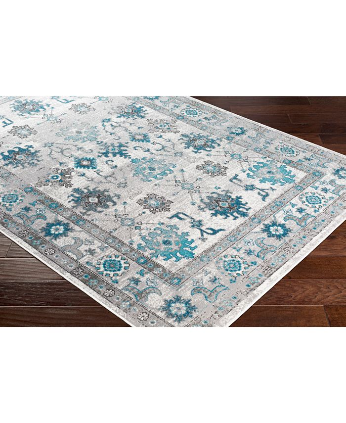 """Abbie & Allie Rugs - Rafetus ETS-2333 Teal 18"""" Square Swatch"""