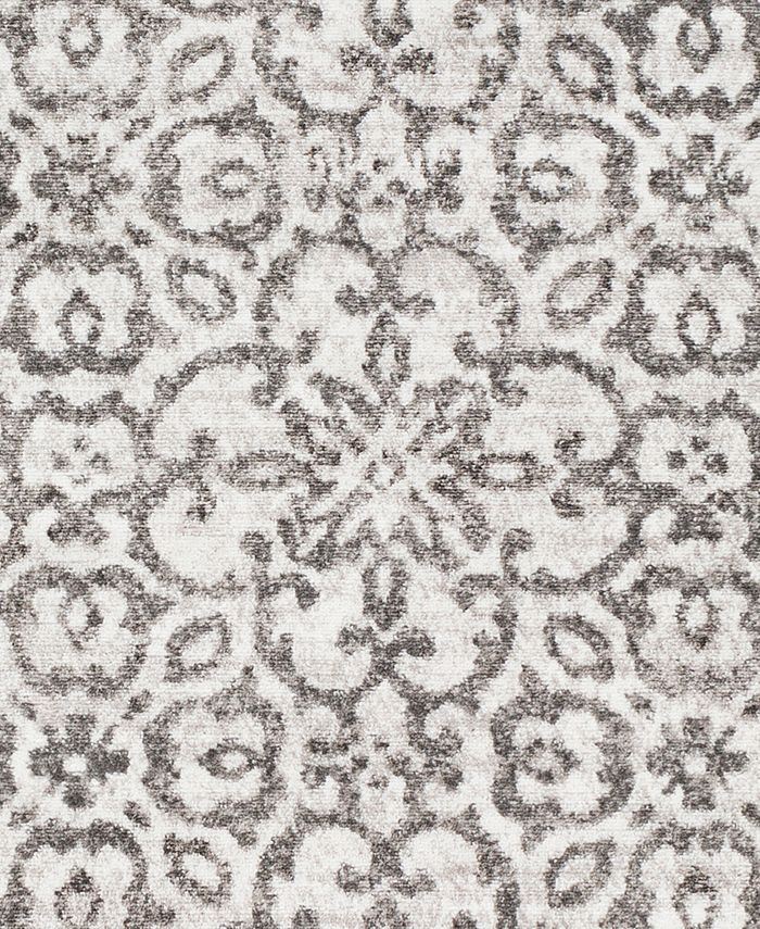 """Abbie & Allie Rugs - MNC-2306 Charcoal 18"""" Square Swatch"""