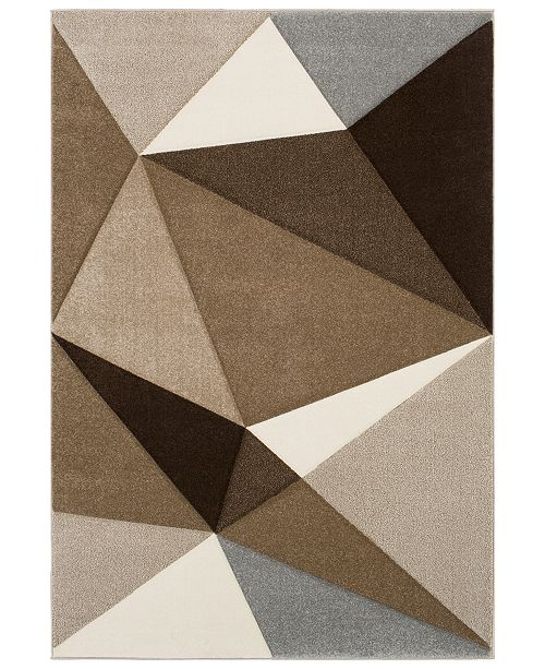 "Surya Santa Monica SAC-2314 Dark Brown 5'3"" x 7'6"" Area Rug"