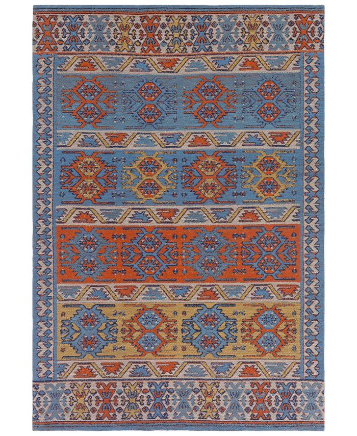 "Surya - Sajal SAJ-1062 Bright Orange 5' x 7'6"" Indoor/Outdoor Area Rug"