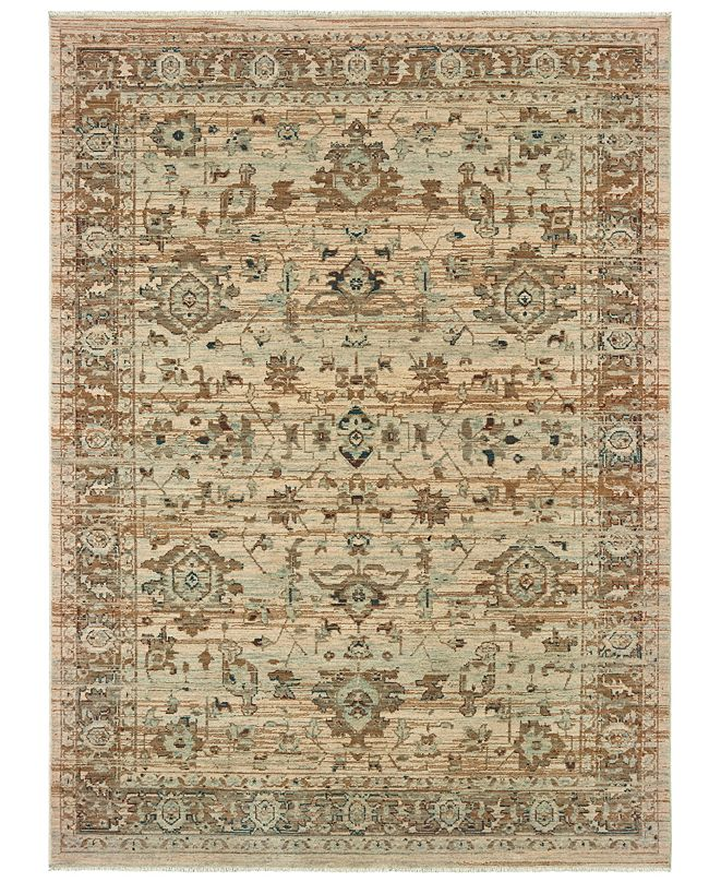 "Oriental Weavers Anatolia 8020J Sand/Blue 6'7"" x 9'6"" Area Rug"