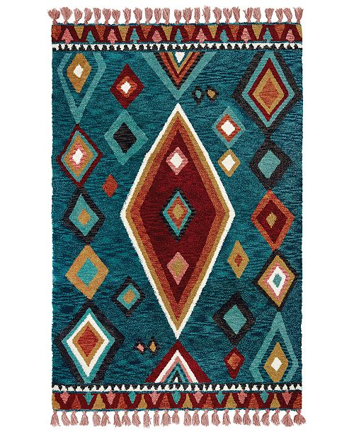 Oriental Weavers Madison 61402 Blue/Pink 8' x 10' Area Rug