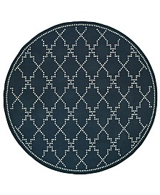 "Oriental Weavers Marina 7765 7'10"" Indoor/Outdoor Round Area Rug"