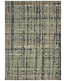 "Montage 8020B Blue/Tan 3'10"" x 5'5"" Area Rug"