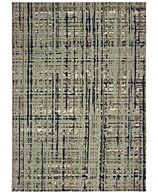 """Oriental Weavers Montage 8020B Blue/Tan 2'3"""" x 10' Runner Area Rug"""