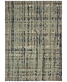 "Oriental Weavers Montage 8020B Blue/Tan 3'10"" x 5'5"" Area Rug"