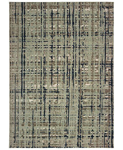 "Oriental Weavers Montage 8020B Blue/Tan 7'10"" x 10'10"" Area Rug"