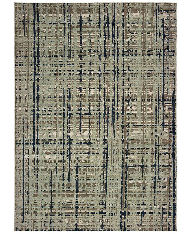 "Oriental Weavers Montage 8020B Blue/Tan 5'3"" x 7'6"" Area Rug"