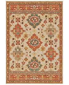 "Oriental Weavers Toscana 9570A Ivory/Orange 2'3"" x 7'6"" Runner Area Rug"