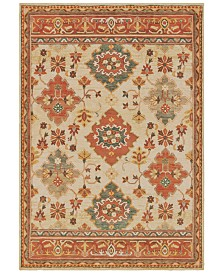"Oriental Weavers Toscana 9570A Ivory/Orange 3'10"" x 5'5"" Area Rug"