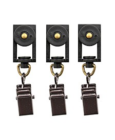 Beme International erod Roller Clip Rings, Set of 14, Bronze