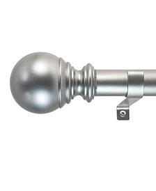 Decopolitan 1-Inch Ball Telescoping Curtain Rod Set, 18 to 36-Inch, Silver