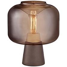 Uplight Smoke Glass Table Lamp