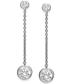 Crystal Linear Drop Earrings, Created for Macy's