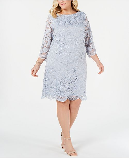 Jessica Howard Plus Size Lace Sheath Dress & Reviews ...