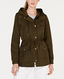 Maralyn & Me Juniors' Hooded Water Resistant Anorak Jacket
