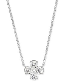 "Crystal Pendant Necklace, 16"" + 1"" extender, Created for Macy's"