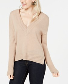 Bar III V-Neck Ribbed Sweater, Created for Macy's