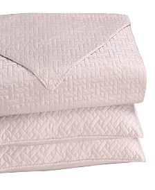 Caskata Matte Satin Embroidered 3 Piece Quilt Set