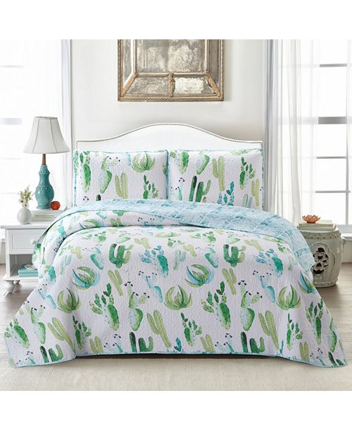 Welcome Industrial Cactus Quilt Set Collection