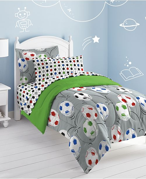 Dream Factory Soccer Twin Comforter Set