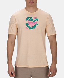 Hurley Men's Floral Logo Graphic T-Shirt