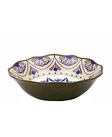 "Bimini Collection 13"" Wavy Stoneware Bowl"