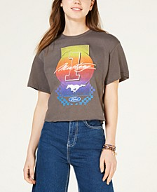Juniors' Cotton Graphic-Print T-Shirt