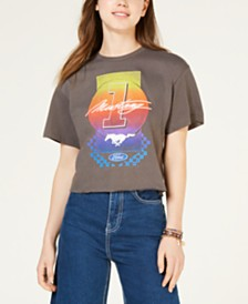 Mighty Fine Juniors' Cotton Graphic-Print T-Shirt