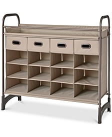 Maximize Stackable 16-Cubby Shoe Organizer with 4 Drawers