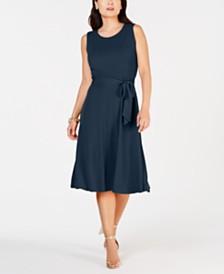 Charter Club Tie-Waist Midi Dress, Created for Macy's